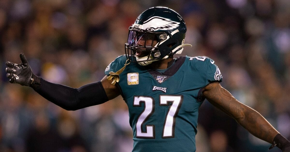 Philadelphia Eagles safety Malcolm Jenkins is on the field during a game against the New England Patriots on Nov. 10, 2019.