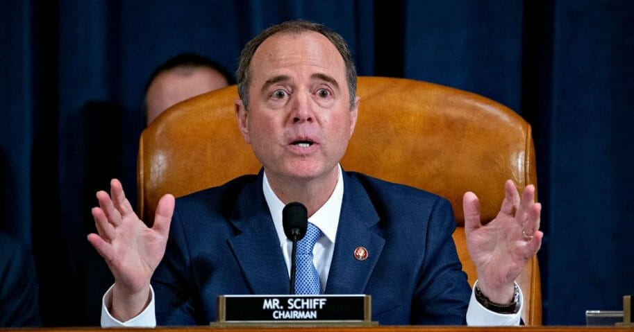 "House Intelligence Committee Chairman Adam Schiff makes his closing statement Thursday at the end of the committee's ""impeachment inquiry."""