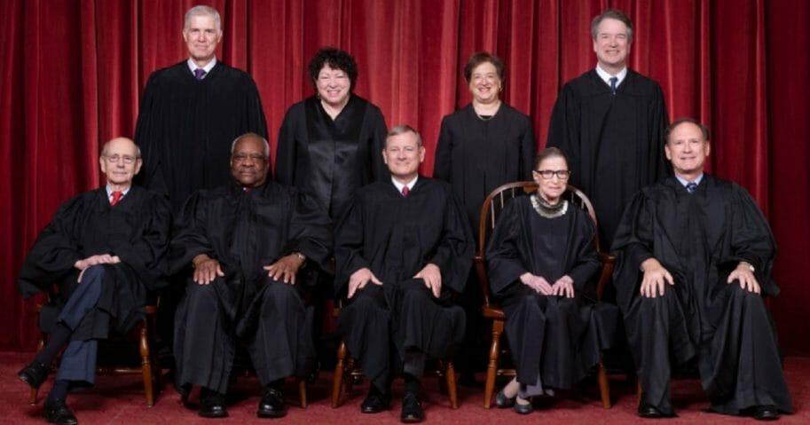Supreme Court group portrait.