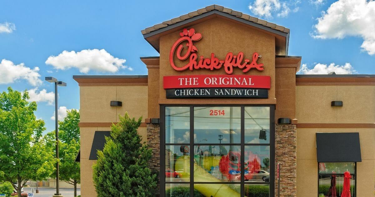 A Chick-fil-A restaurant in Lexington, Kentucky.