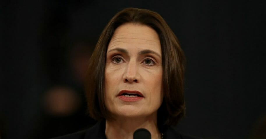 Fiona Hill, the National Security Council's former senior director for Europe and Russia testifies before the House Intelligence Committee in the Longworth House Office Building on Capitol Hill on Nov. 21, 2019, in Washington, D.C.