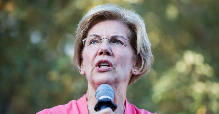 Democratic presidential candidate Sen. Elizabeth Warren speaks during a Town Hall at Keene State College on Sept. 25, 2019 in Keene, New Hampshire.