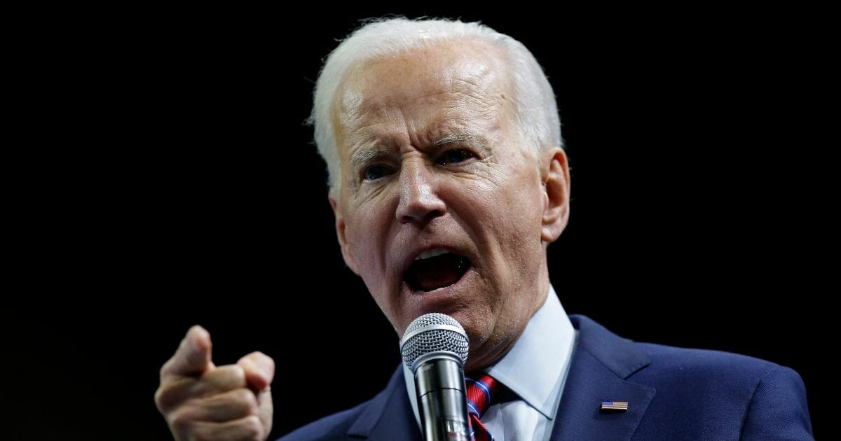 Democratic presidential candidate, former Vice President Joe Biden speaks during the Iowa Democratic Party Liberty & Justice Celebration on Nov. 1, 2019. (