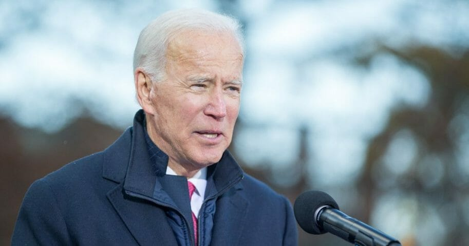 Democratic presidential candidate, former vice President Joe Biden speaks during a rally after he signed his official paperwork for the New Hampshire Primary at the New Hampshire State House on Nov. 8, 2019 in Concord, New Hampshire.