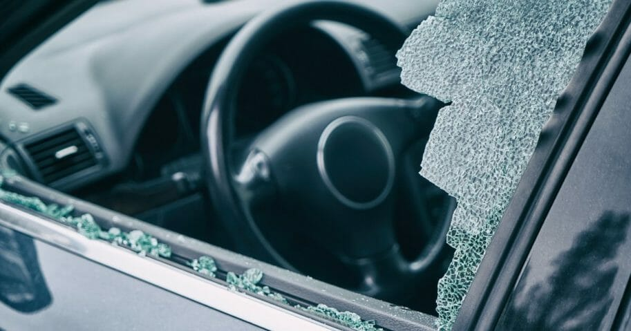 A broken car window. While one group from Sweden was traveling in Cyprus for the holidays, their rental car was broken into and an urn containing a family member's ashes was stolen