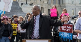 "Congressman A. Donald McEachin speaks at the ""Kill The Bill"" Rally To Demand The House GOP Vote ""No"" On Trumpcare at the United States Capitol Building on March 24, 2017, in Washington, D.C."