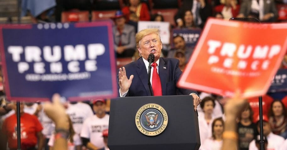 President Donald Trump speaks during a homecoming campaign rally at the BB&T Center on Nov. 26, 2019, in Sunrise, Florida.