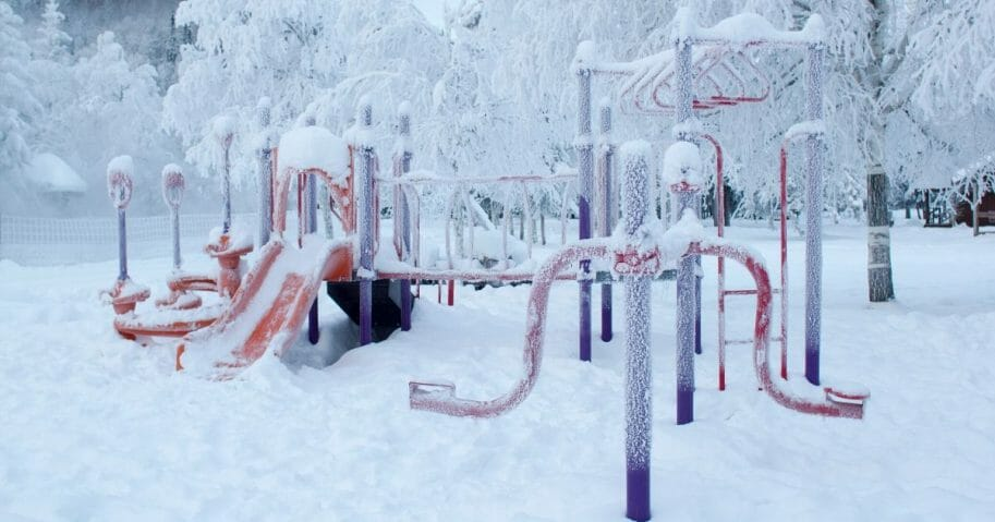 A playground in Fairbanks, Alaska.