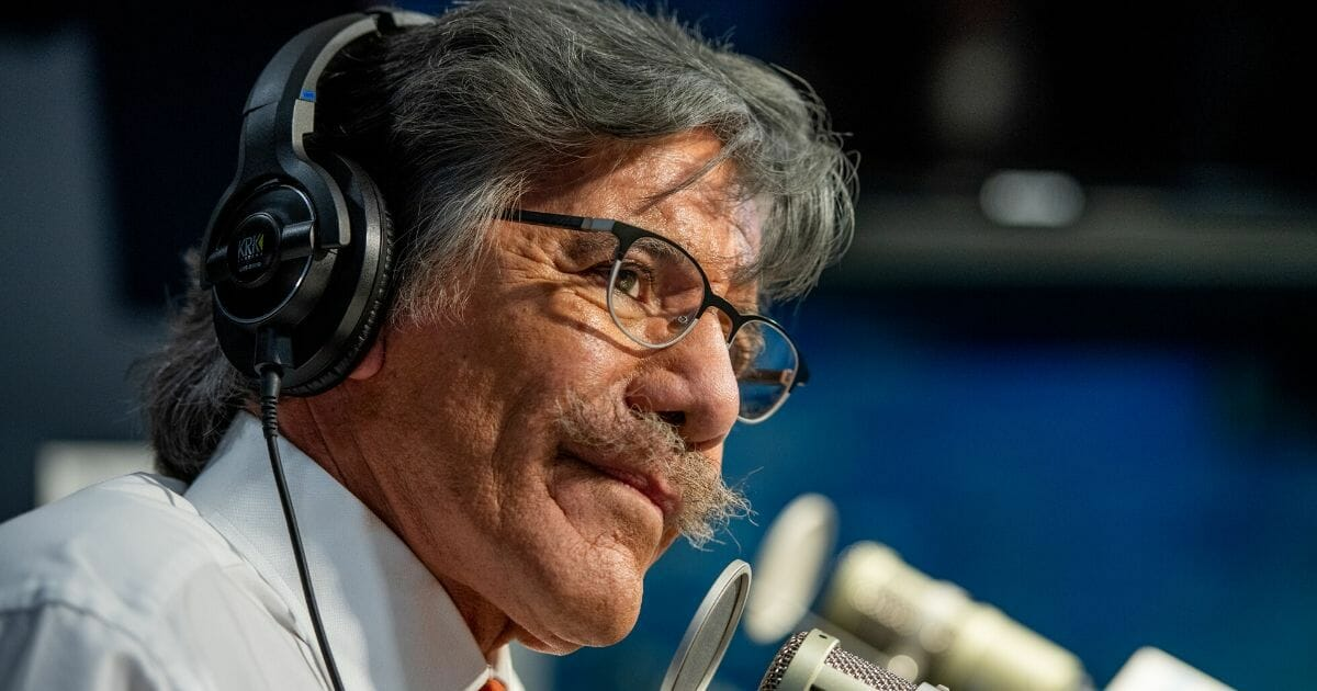 "Geraldo Rivera visits ""The Dan Abrams Show"" at SiriusXM Studios on Nov. 1, 2018, in New York City."
