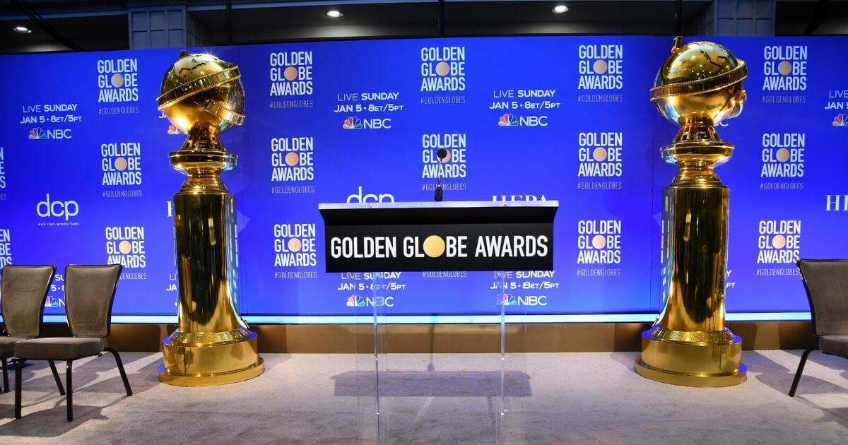 The Golden Globe Awards are seen on Dec. 9, 2019, in Beverly Hills, California.