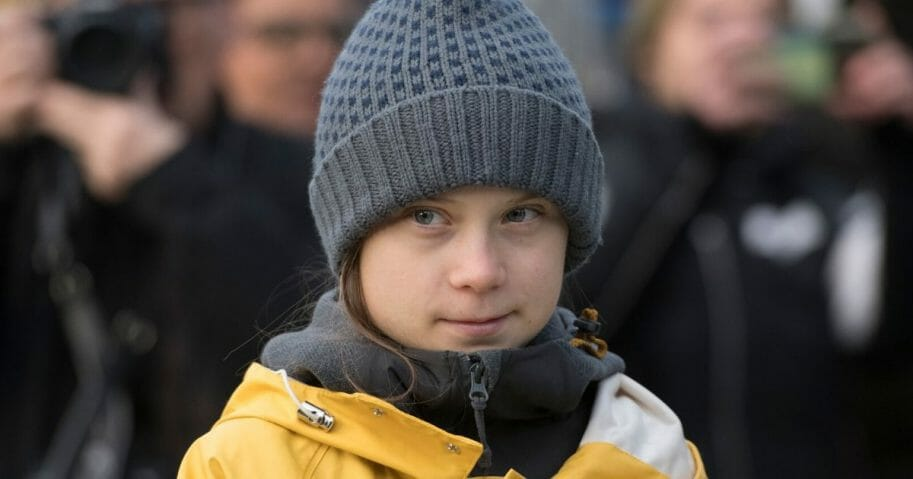 Greta Thunberg Attends Fridays for Future Strike in Turin on Dec. 13, 2019, in Turin, Italy.