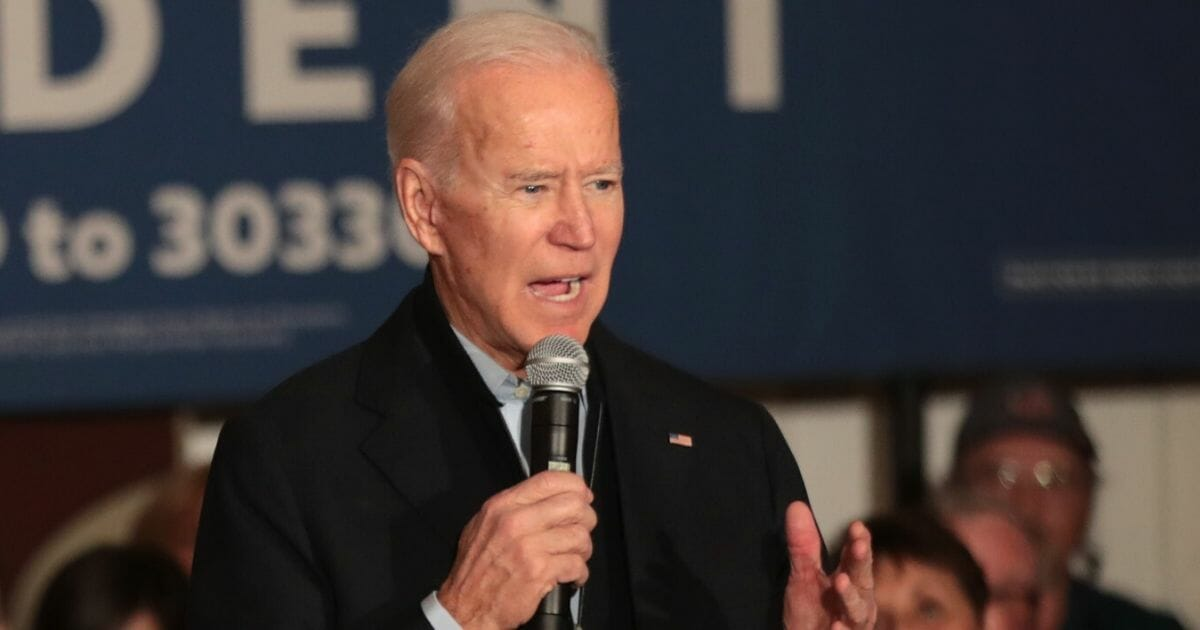 Democratic presidential candidate and former Vice President Joe Biden speaks during a campaign stop at the Hotel Ottumwa n Ottumwa, Iowa, on Dec. 21, 2009.