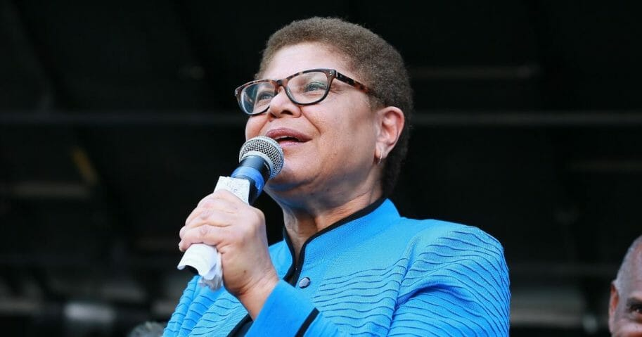 Democratic Rep. Karen Bass of California attends the official unveiling of the City of Los Angeles' Obama Boulevard on May 4, 2019, in Los Angeles.