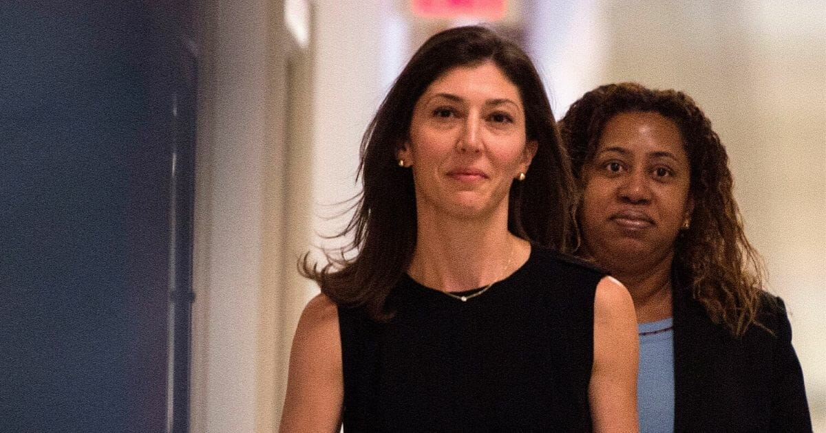 Lisa Page, former legal counsel to former FBI Director Andrew McCabe, arrives on Capitol Hill July 13, 2018, to provide closed-door testimony about the texts critical of Donald Trump that she exchanged with her FBI agent lover during the 2016 presidential campaign.