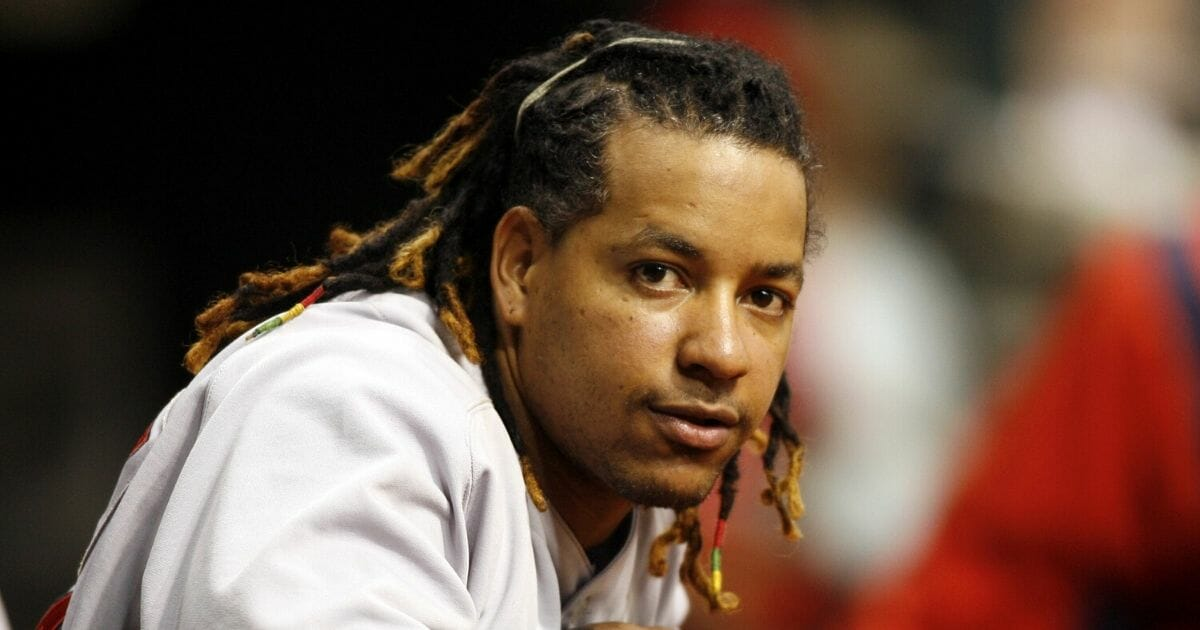 Boston's Manny Ramirez prepares to bat during Tuesday's action against Tampa Bay at Tropicana Field in St. Petersburg, Florida on July 4, 2006.