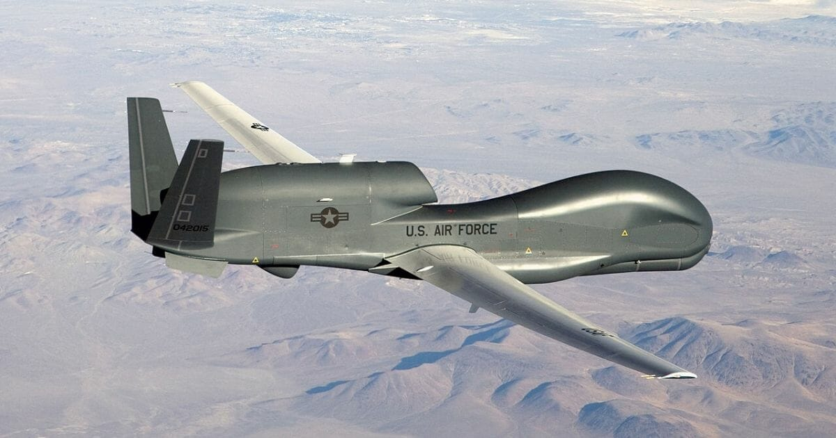An RQ-4 Global Hawk unmanned aircraft like the one shown is currently flying non-military mapping missions over South, Central America and the Caribbean at the request of partner nations in the region.