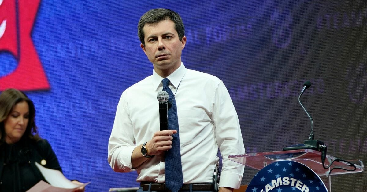 Democratic presidential candidate and South Bend, Indiana, Mayor Pete Buttigieg speaks at the Teamsters Vote 2020 Presidential Candidate Forum Dec. 7, 2019, in Cedar Rapids, Iowa.