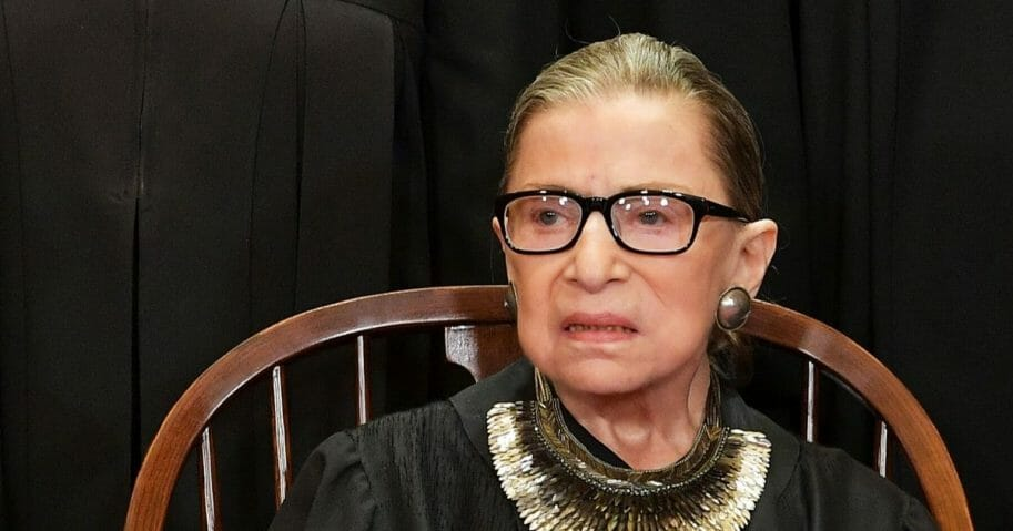 Associate Justice Ruth Bader Ginsburg poses for the official photo at the Supreme Court in Washington, D.C. on Nov. 30, 2018.
