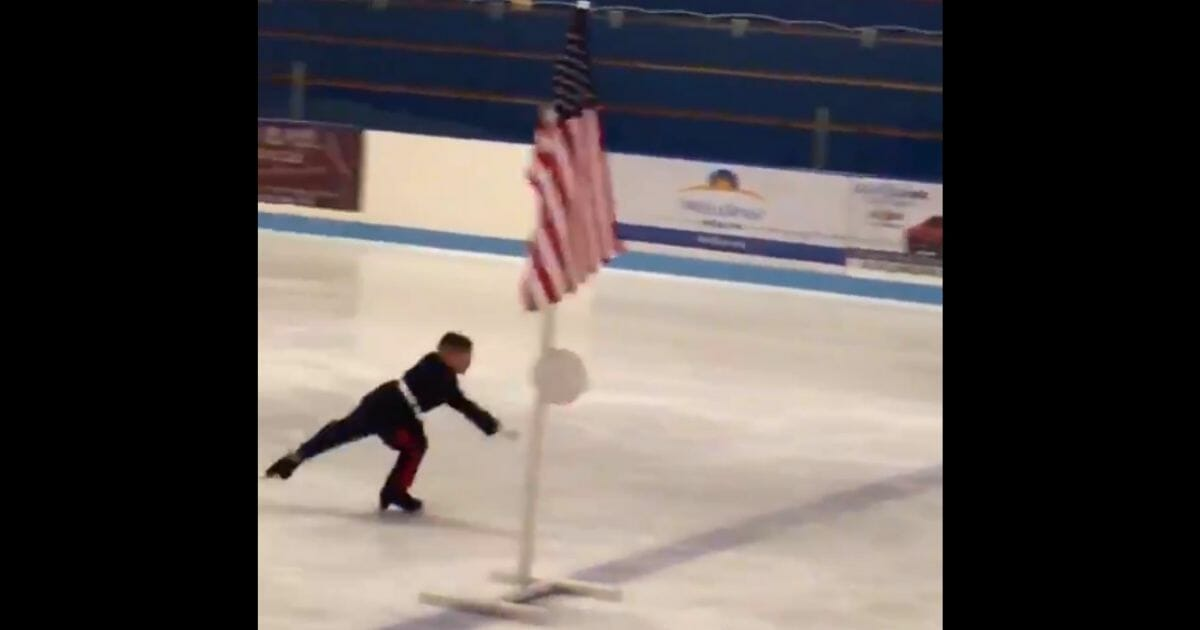 Young skater Nolan Smith uses his time on the ice to pay respect to brave men and women who have sacrificed precious time with family.