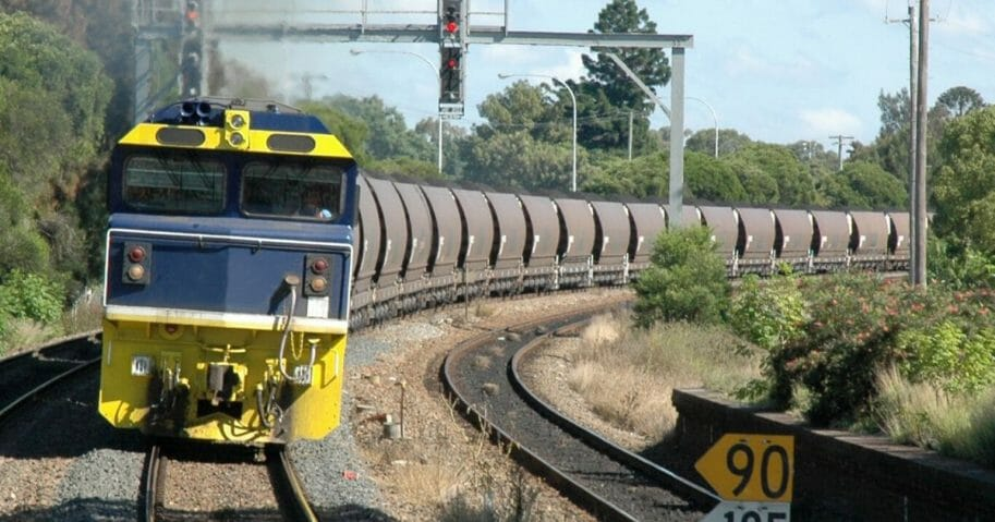 A stock image of a coal train.