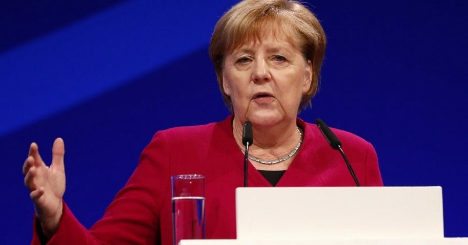 German Chancellor Angela Merkel speaks Tuesday at the opening of the Internet Governance Forum in Berlin.