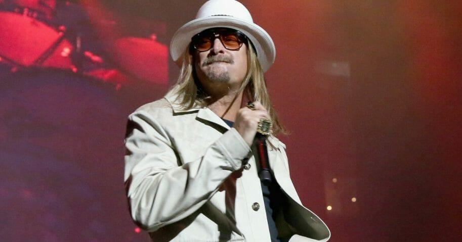 Entertainer Kid Rock performs in a May concert at AT&T Stadium in Arlington, Texas.