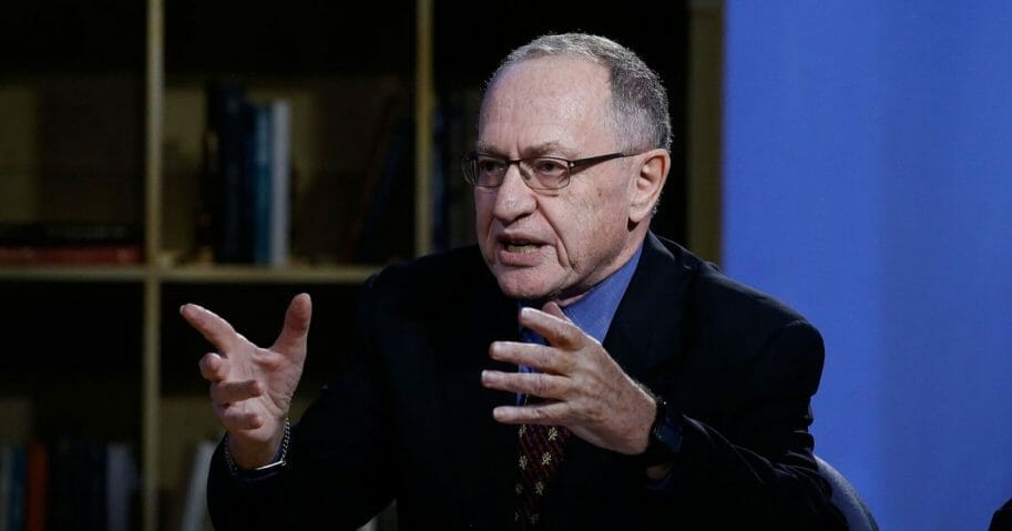 """Alan Dershowitz attends """"Triumph's Election Special"""" produced by Funny Or Die at NEP Studios on Feb. 3, 2016, in New York City."""