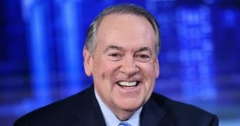 """Fox News Contributor Gov. Mike Huckabee visits """"The Story with Martha MacCallum"""" in the Fox News Channel Studios on Sept. 17, 2019, in New York City."""