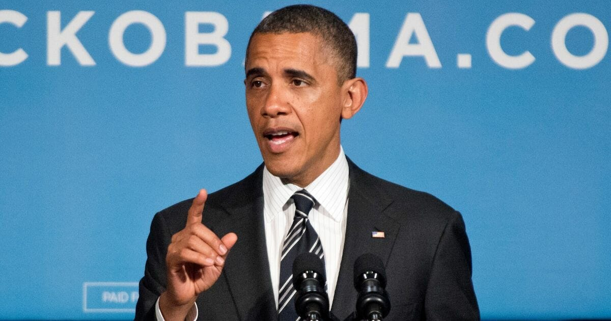 Then-President Barack Obama speaks at a September 2012 fundraiser at the Capital Hilton Hotel in Washington.