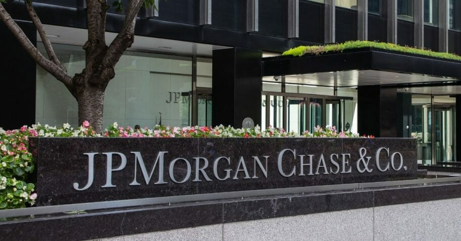 The JPMorgan Chase office building in Manhattan, New York City.