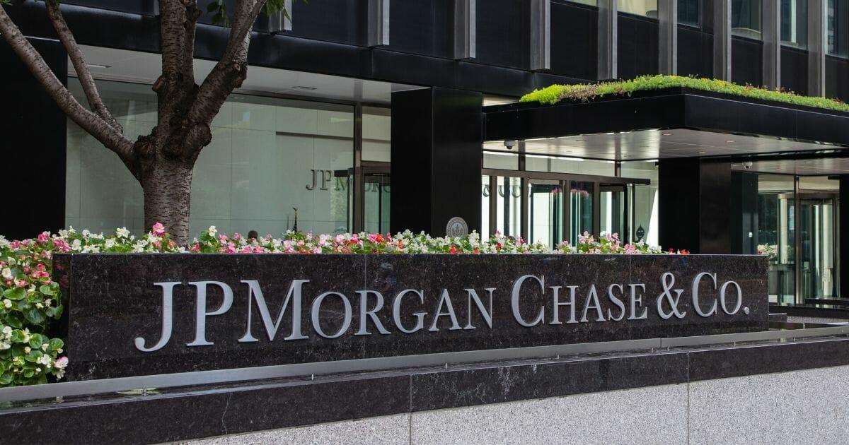 The JPMorgan Chase office building in Manhattan, New York City.