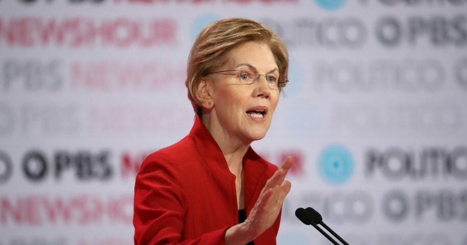 Massachusetts Sen. Elizabeth Warren speaks during the Democratic presidential primary debate at Loyola Marymount University on Dec. 19, 2019 in Los Angeles.