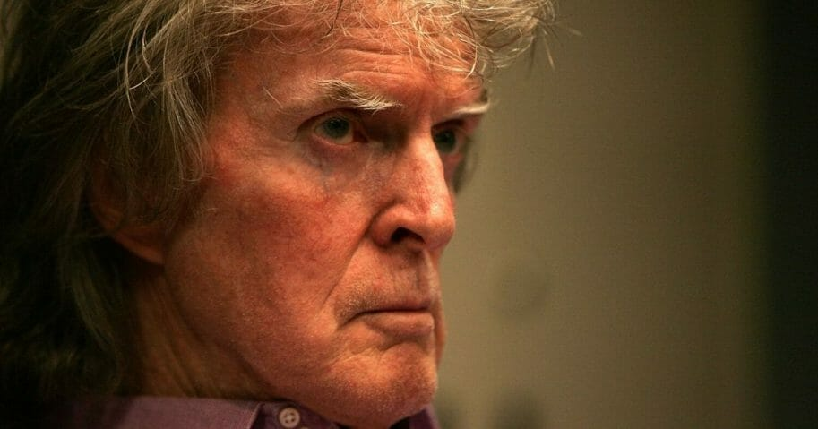 Radio show host Don Imus waits for the Rev. Al Sharpton's radio show to begin on April 9, 2007, in New York City.