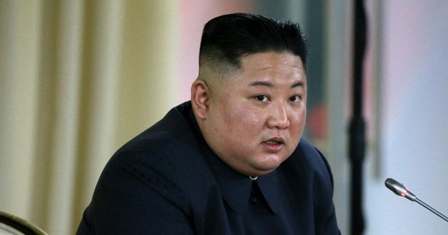 North Korean Leader Kim Jong-un is pictured in a file photo from Russia in April.