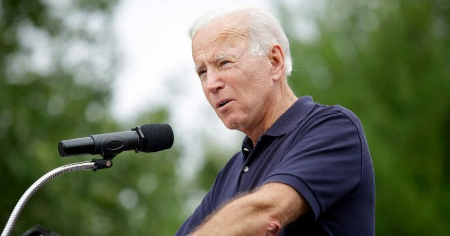 Former Vice President Joe Biden is pictured in a file photo from Iowa in September.