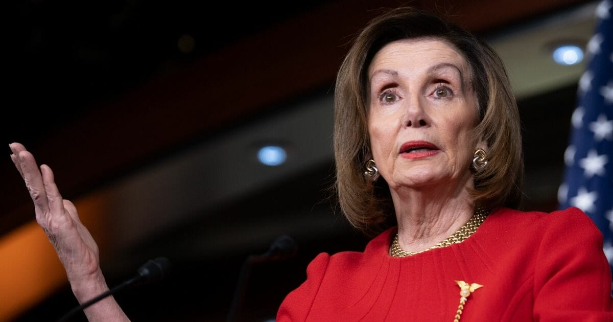 Speaker of the House Nancy Pelosi holds a news conference on Capitol Hill in Washington, D.C., on Dec. 19, 2019.