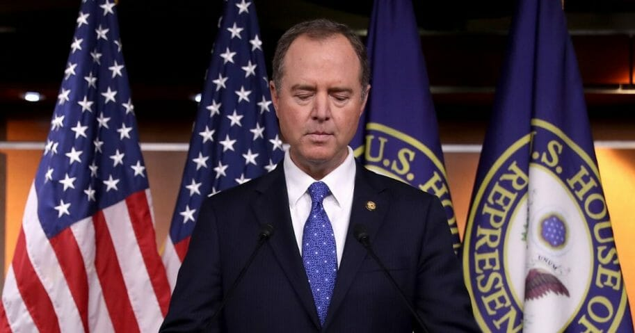 House Intelligence Committee Chairman Adam Schiff holds a news conference shortly after the release of the committee's Trump-Ukraine Impeachment Inquiry Report at the U.S. Capitol on Dec. 3, 2019, in Washington, D.C.