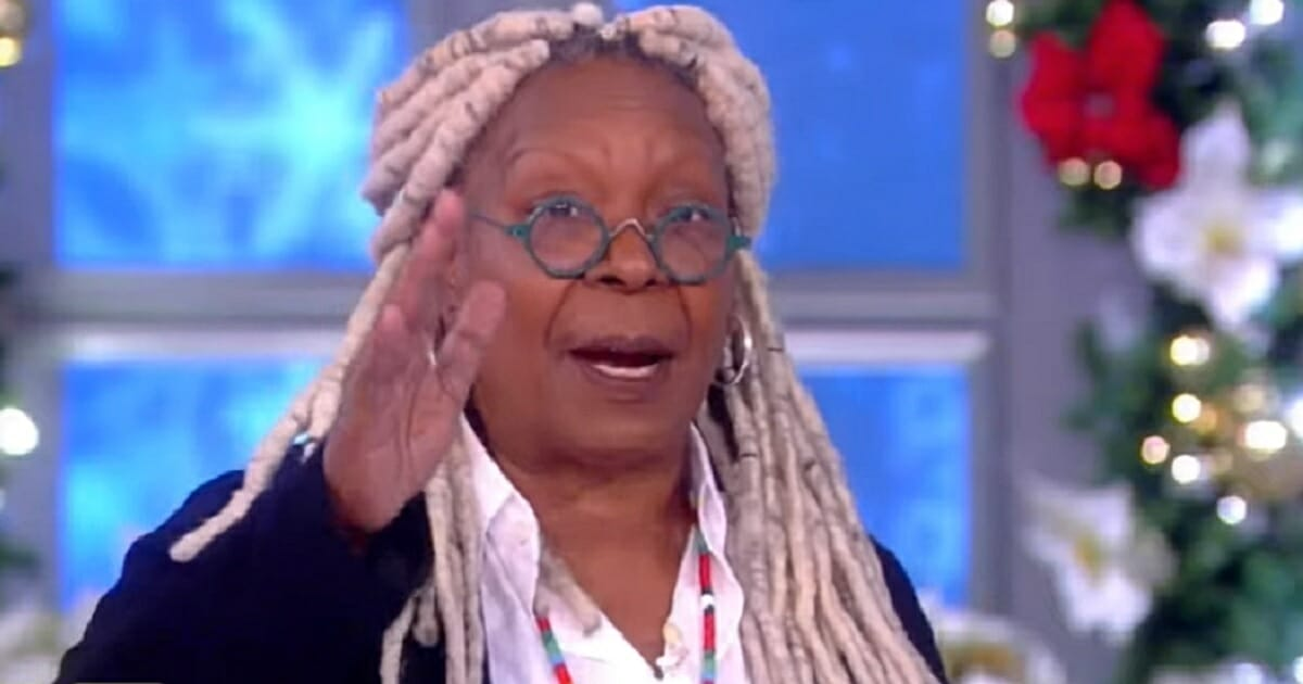 """Whoopi Goldberg gestures in a screen shot from Monday's episode of """"The View."""""""