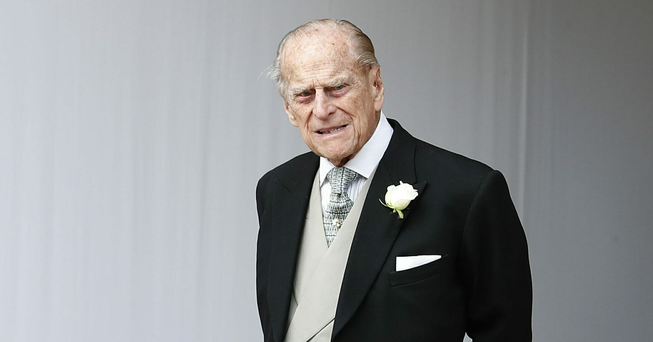 Britain's Prince Philip waits for the bridal procession following the wedding of Princess Eugenie of York and Jack Brooksbank in St George's Chapel, Windsor Castle, near London on Oct. 12, 2018.