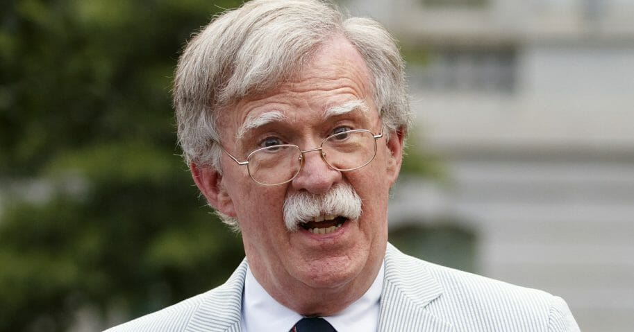 John Bolton speaks to the media at the White House in Washington on July 31, 2019, when he was national security adviser.