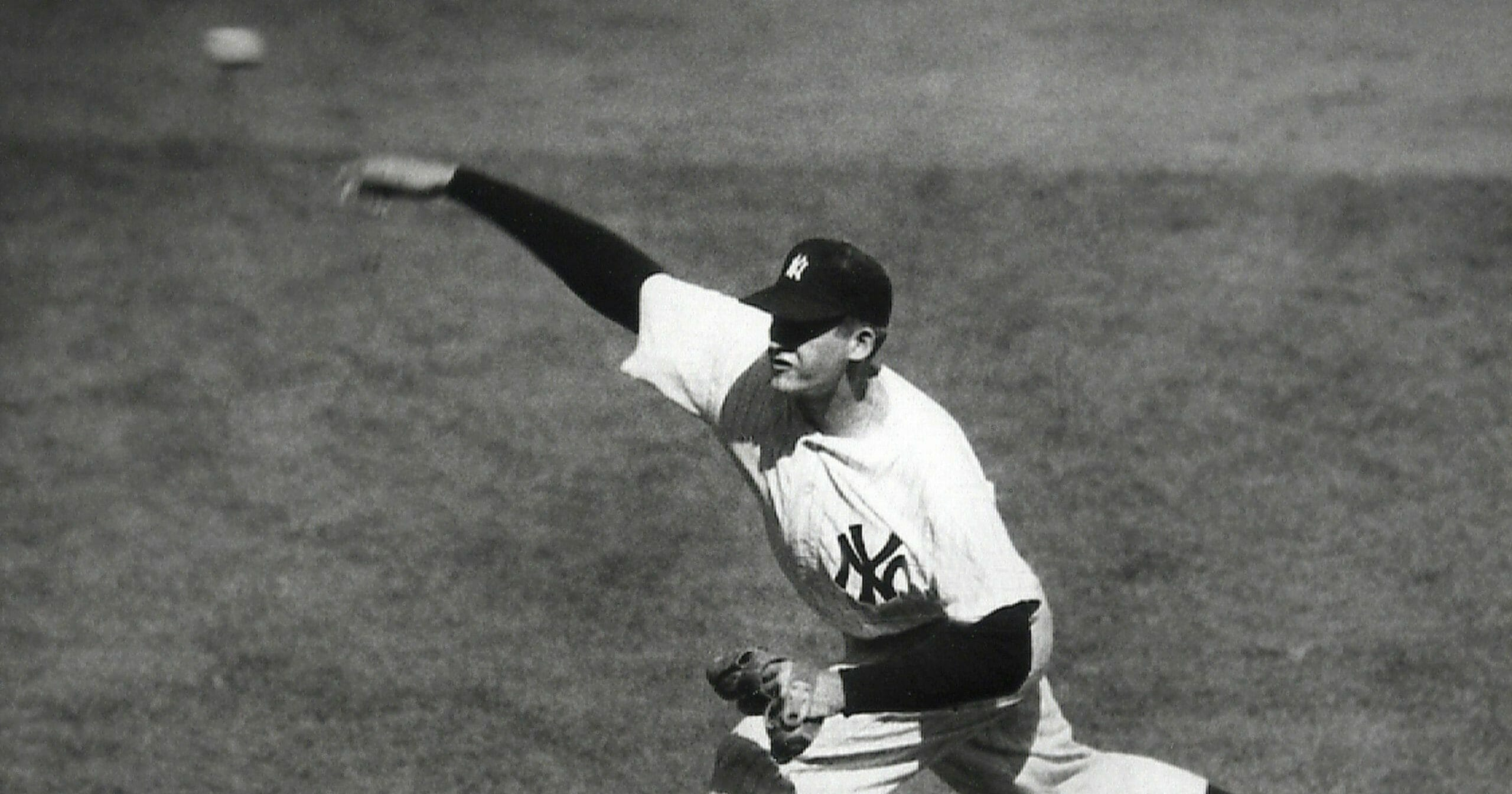 The New York Yankees' Don Larsen delivers a pitch in the fourth inning of Game 5 of the World Series against the Brooklyn Dodgers
