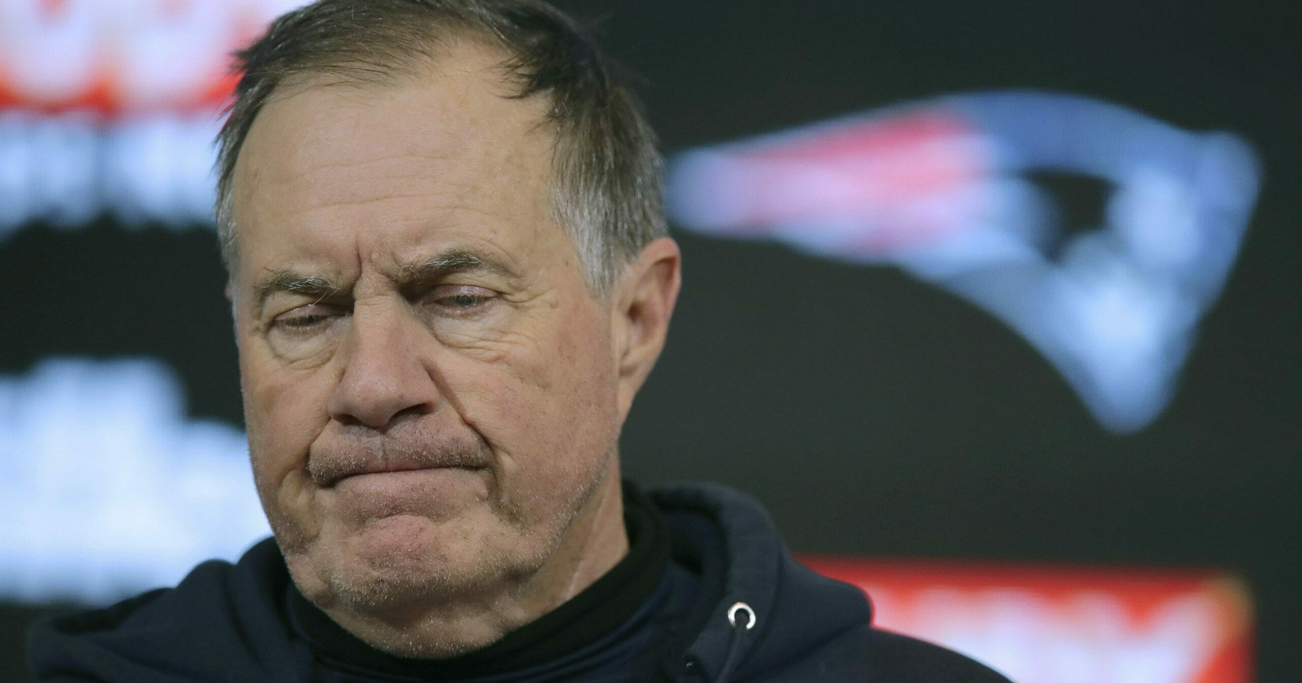 New England Patriots head coach Bill Belichick speaks to the media following an NFL wild-card playoff loss to the Tennessee Titan on Jan. 4, 2020, in Foxborough, Massachusetts.