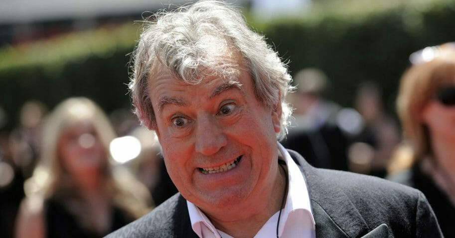 In this Aug. 21, 2010, file photo, Terry Jones arrives at the Creative Arts Emmy Awards in Los Angeles. Jones, a member of the Monty Python comedy troupe, has died at 77.