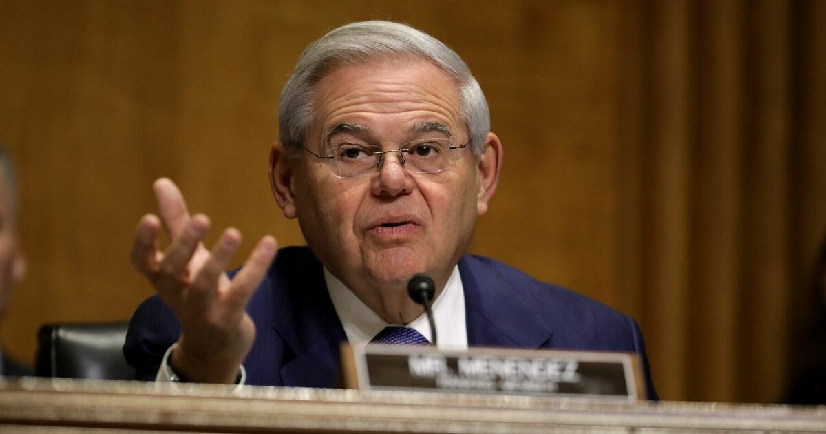 Senate Foreign Relations Committee ranking member Sen. Robert Menendez (D-New Jersey) questions witnesses during a hearing about U.S.-Russia relations in the Dirksen Senate Office Building on Capitol Hill on Dec. 3, 2019, in Washington, D.C