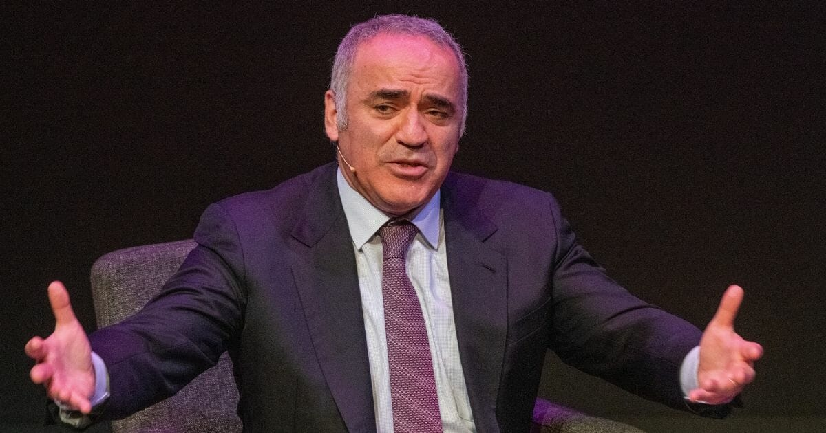 Russian democracy advocate and chess grand master Garry Kasparov speaks during the Oslo Freedom Forum on May 27, 2019, in Oslo, Norway.