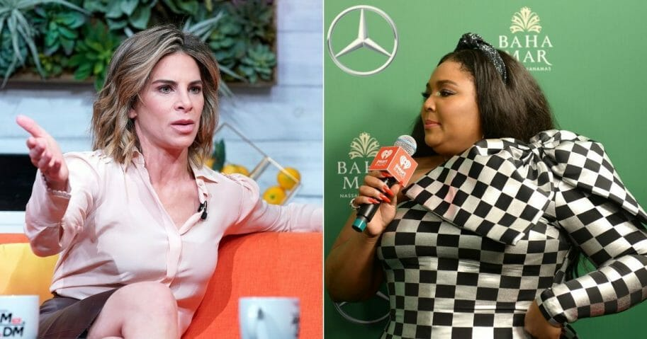 Fitness expert Jillian Michaels, left, drew the ire of Twitter users when she criticized people for celebrating pop star Lizzo for being overweight.