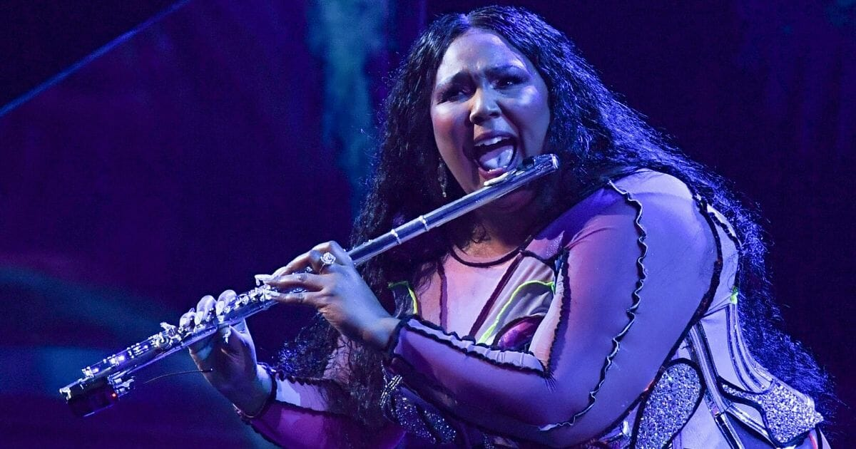 Singer-songwriter Lizzo performs onstage during the 62nd Annual Grammy Awards on Jan. 26, 2020, in Los Angeles.