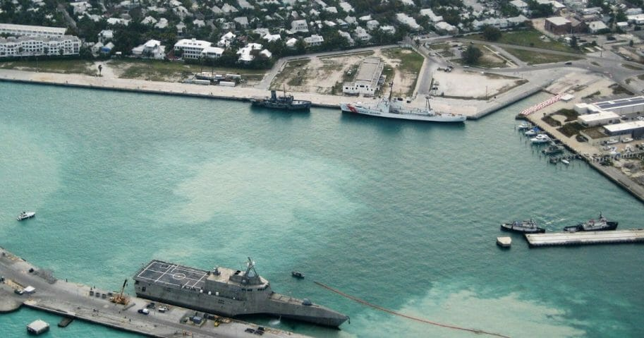 In this photo provided by the U.S. Navy, the combat ship USS Independence (LCS-2) arrives at Mole Pier March 29, 2010, at Naval Air Station Key West in Key West, Florida.