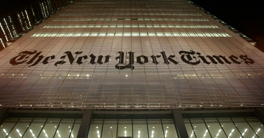 The New York Times headquarters is seen Feb. 19, 2009, in New York City.