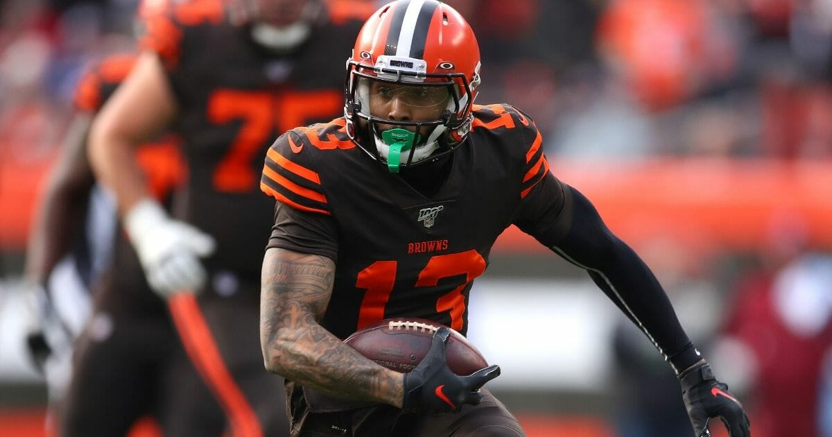 Odell Beckham #13 of the Cleveland Browns plays against the Cincinnati Bengals at FirstEnergy Stadium on Dec. 8, 2019, in Cleveland, Ohio.